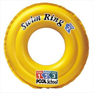 Надувной круг желтого цвета Школа плавания Intex 51 см