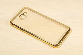 Прозрачный силиконовый чехол для Samsung Galaxy J5 Prime 2016 G570F с глянцевой окантовкой (2 цвета)