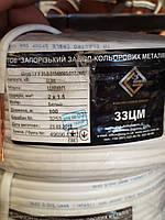 Шнур монтажный ШВВП 2х1.5 завод ЗЗЦМ, провод, плоский, медный, двужильный, заводской