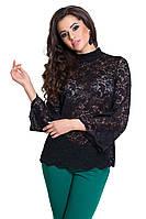 Блузка кружевная черного цвета