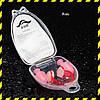 Беруші для плавання Silenta Razor з кліпсою, pink (надм'які)