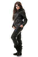 Костюм женский зимний на синтепоне черного цвета
