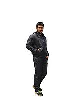 Мужской теплый костюм на синтепоне черный