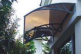 Захисний дашок (козирьок) ТМ TanDen з монолітним полікарбонатом 3мм 1500*930*280, фото 5