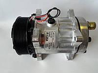 Компрессор  кондиционера универсальный аналог SANDEN, 7Н15, PV8, 12V, АCTECmax