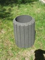 Урна тротуарная бетонная серая