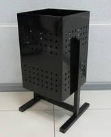 Урна металлическая квадратная  на 44л (300*500)