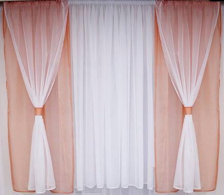 "Комплект штор на кухню ""Саванна Розовый"", фото 2"