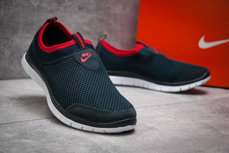 Мокасины мужские сетка Nike.Без шнурков,мягкие