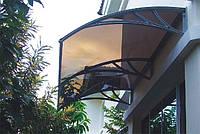 Захисний дашок (козирьок) ТМ TanDen з монолітним полікарбонатом 4мм 3000*930*280, фото 1