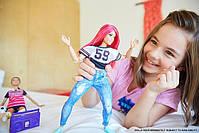 Кукла Barbie Made to Move Подвижная артикуляция Танцовщица Йога FJB19, фото 6