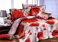 Двуспальный набор постельного белья 180*220 из Полисатина №013 Черешенка™