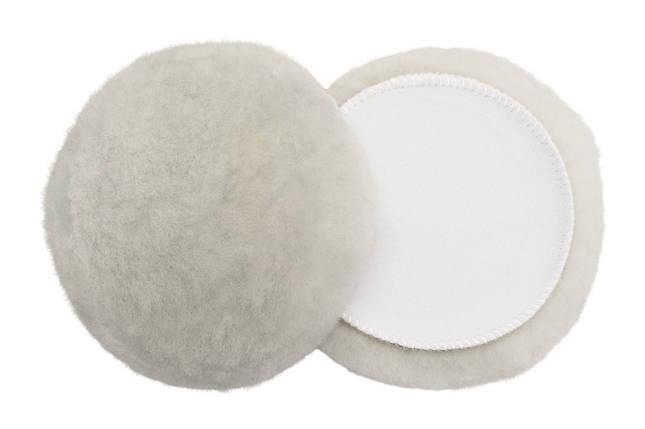 "Полировальный круг лама - Flexipads Merino Lambs Wool Bonnet 180х32 мм. (6"") белый (40247), фото 2"