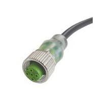 """Разъем M12 с LED-индикацией для датчиков NPN, """"мама"""", 4 pin, прямой, с кабелем 5 м"""