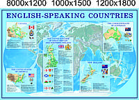 "Стенд ""ENGLISH-SPEAKING COUNTRIES"""