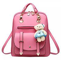 Женский рюкзак Винтаж с мишкой Тедди,Candy Bear Розовый
