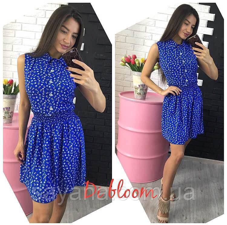 Купить Женское платье из штапеля, в разных принтах. Ю-6-0518 ... 2f0a53872eb