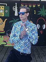 """Мужская Рубашка с Длинным Рукавом (Принт: """"Тигры"""")"""