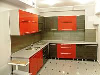 Кухня глянцевый шпон с покраской