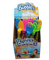 Мильні бульбашки 9007 лопатки/граблі 4 вида 2 кольори 24 шт. в кор. 28*21*21,3 см