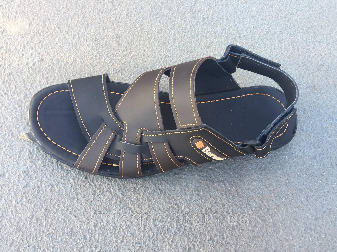 Сандали мужские кожаные коричневого цвета 42 размер  продажа 8725f1187a15a