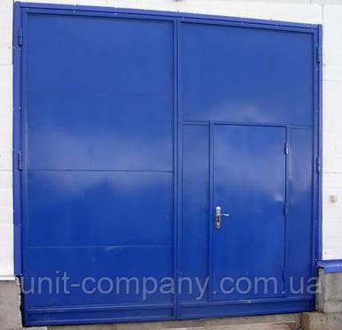 Ворота распашные металлические противопожарные EI-30, H3000x3000