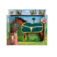 Лошадка с попоной и аксессуарами, 25 см, 3+