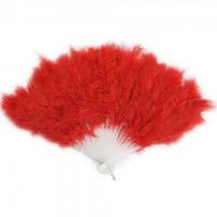 Веер перо красный