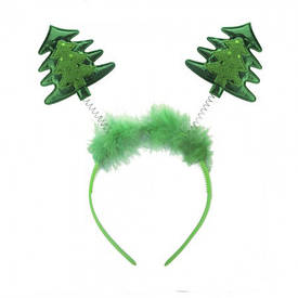Ободок (обруч) для волос антенки Елочка
