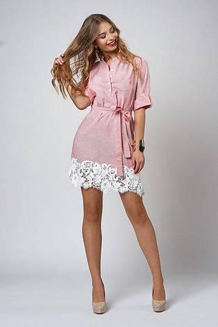 0bb14f4a559 Летнее женское платье с кружевом в полоску и в клетку.  продажа ...