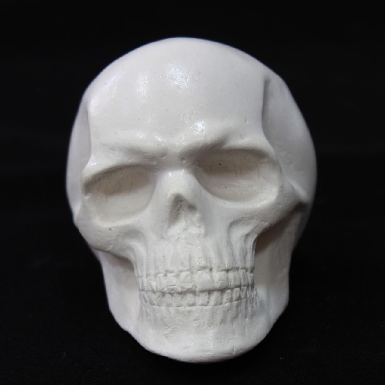 Модель черепа, белый, гипсовый, декоративный, маленький, фото 1