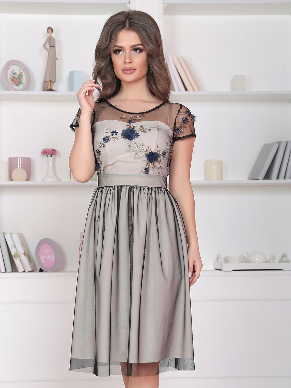 Нарядное Платье Янита в молочном цвете