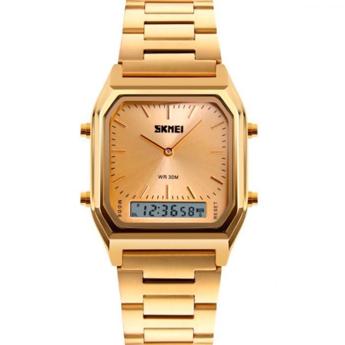 Чоловічі годинники Skmei Tango Золотистий