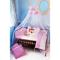 """Комплект постельного белья в детскую кроватку """"Медвежонок солнышко"""""""
