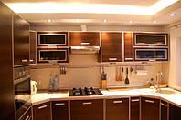 Кухня с фасадами ДСП в алюминиевом профиле, фото 1