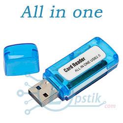Кардридер USB 2.0 универсальный,  Micro SD, SDXC TF Card Reader