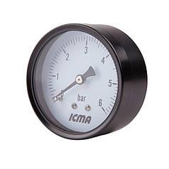 "Манометр заднего подключ.1/4   0- 6 бар ""Icma"" №243"
