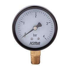 """Манометр нижнего.подключ.1/4   0- 6 бар """"Icma"""" №244"""