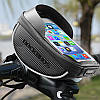 Велосумка Rockbros 010-4BK на руль (черный-карбон), фото 5