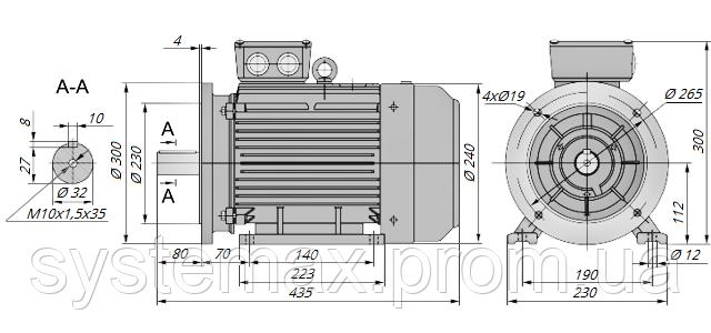 АИР112МВ6 / АИР 112 МВ6 / IM 2081 / IM2081 / комб / комбинированный / фланцевый / 4 кВт / 1000 об/мин