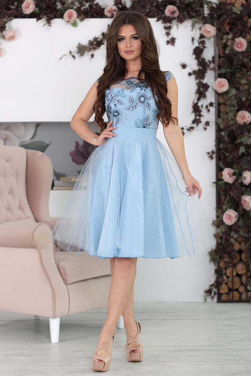 Вечернее Платье Эшли в голубом цвете
