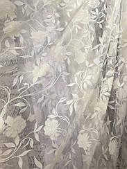 Тюль органза с принтовым рисунком bs-23