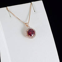 Потрясающий кулон с кристаллами Swarovski + цепочка, покрытые золотом 0843