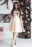 Вечернее Платье Эшли в светло-бежевом цвете, фото 1