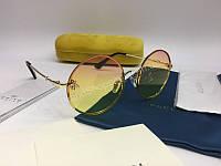 NEW 2018 Женские очки Gucci солнцезащитные круглые с переходом от розового в желтый 2034, фото 1
