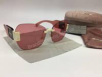 NEW 2018  Крутые очки солнцезащитные MIU MIU в нежно -розовом цвете арт 2060, фото 1