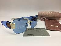 NEW 2018  Крутые очки солнцезащитные MIU MIU в нежно -голубом  цвете арт 2061, фото 1