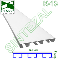 Плоский алюминиевый карниз на три ряда штор, фото 1