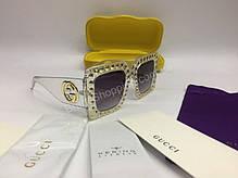 f2fc70c54214 NEW 2019 Очки солнцезащитные Gucci в прозрачной оправе с темными стеклами  полный комплект арт 2071