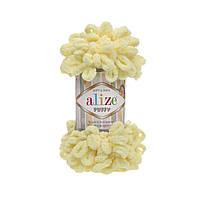 Пряжа Alize Puffy 13 лимонный  (Пуффи Ализе) для вязания без спиц руками